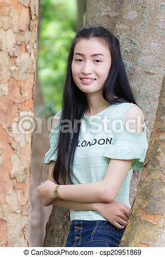 Portrait Beautiful asian woman - csp20951869