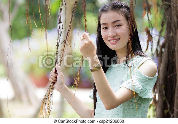 Portrait Beautiful asian woman - csp21206860