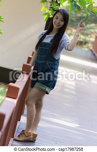 Portrait Beautiful asian woman - csp17987258