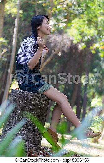 Portrait Beautiful asian woman - csp18096156