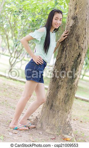 Portrait Beautiful asian woman - csp21009553