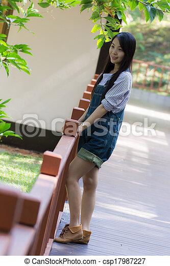 Portrait Beautiful asian woman - csp17987227