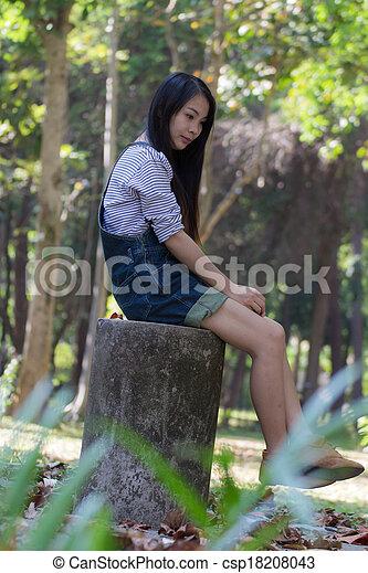 Portrait Beautiful asian woman - csp18208043