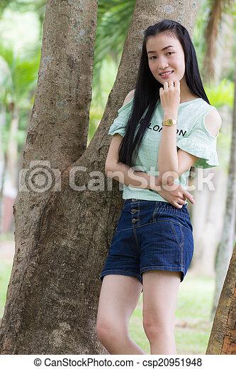 Portrait Beautiful asian woman - csp20951948