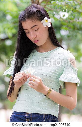 Portrait Beautiful asian woman - csp21206749