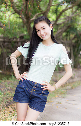 Portrait Beautiful asian woman - csp21235747