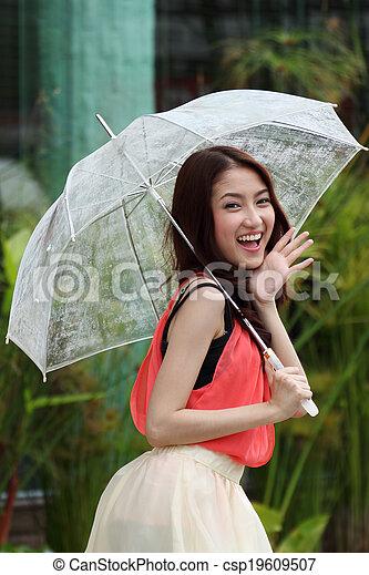 Portrait beautiful Asian woman - csp19609507