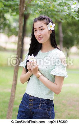 Portrait Beautiful asian woman - csp21180300