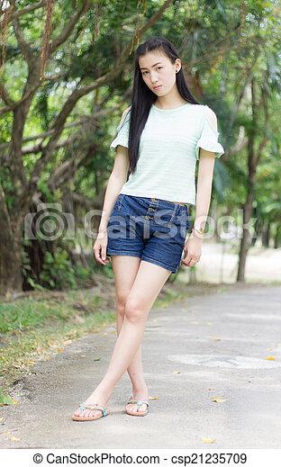 Portrait Beautiful asian woman - csp21235709