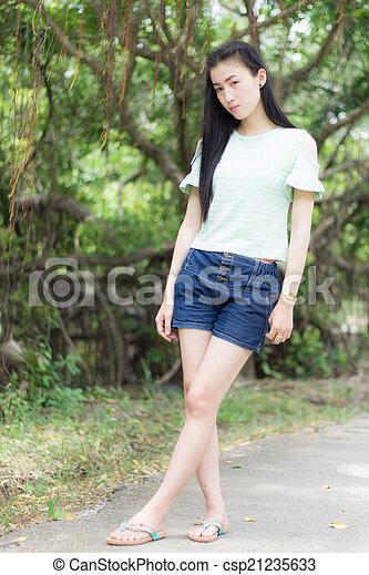Portrait Beautiful asian woman - csp21235633
