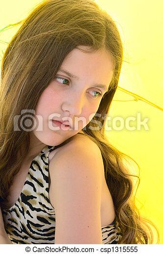 Portrait beauty teen Girl - csp1315555