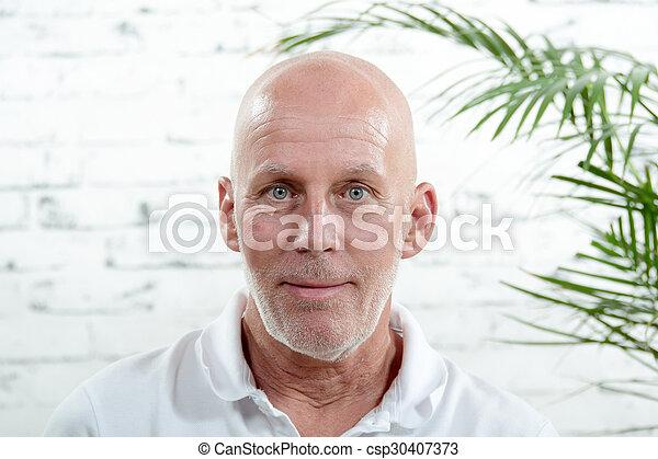 portrait, deux âges, homme - csp30407373