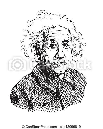 portrait, einstein - csp13096819
