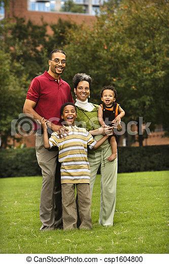 portrait, famille - csp1604800