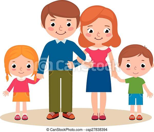 Portrait famille peu famille illustration dessin - Dessin anime de la famille pirate ...