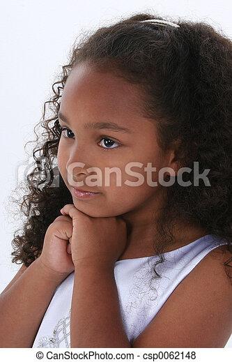 portrait, girl, enfant - csp0062148