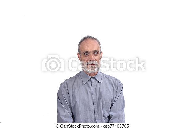portrait, homme, age moyen - csp77105705