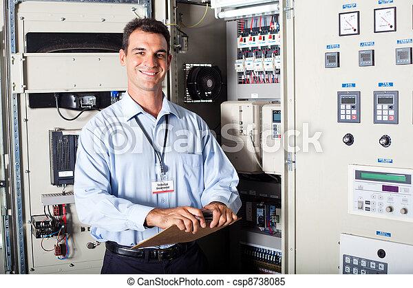 portrait, industriel, ingénieur - csp8738085
