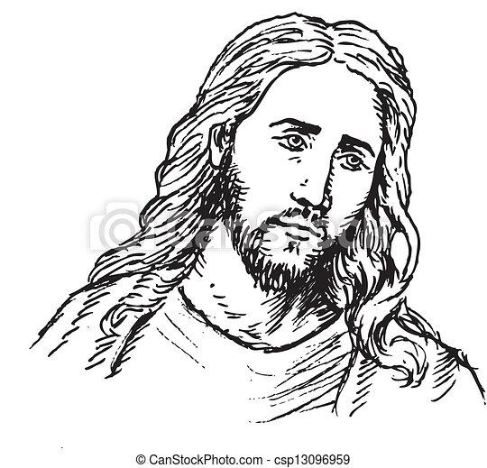 portrait, jésus - csp13096959