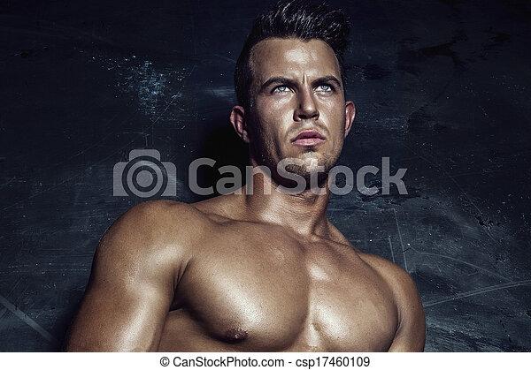 portrait, man., sexy - csp17460109