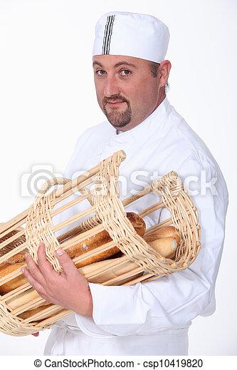 portrait of a baker - csp10419820