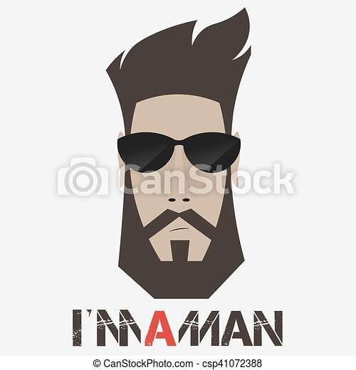 Portrait of a bearded man, - csp41072388