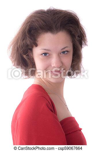 portrait of a beautiful girl - csp59067664
