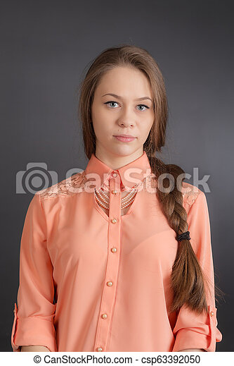 portrait of a beautiful girl - csp63392050