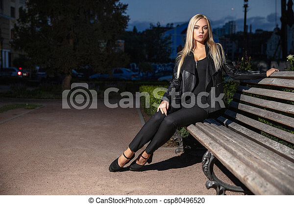 Portrait of a beautiful lady - csp80496520