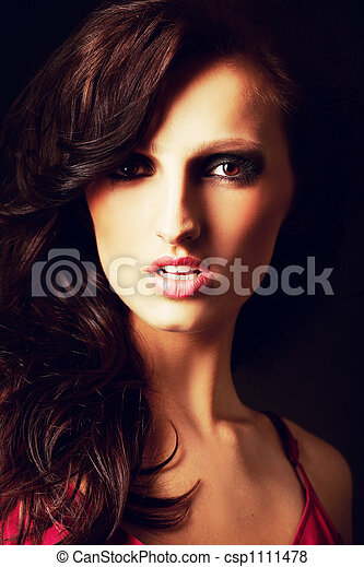 Portrait of a beautiful young sexy woman - csp1111478
