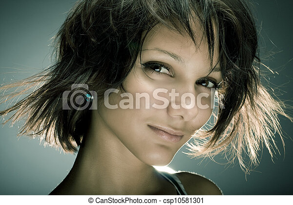 Portrait of a beautiful young sexy woman  - csp10581301