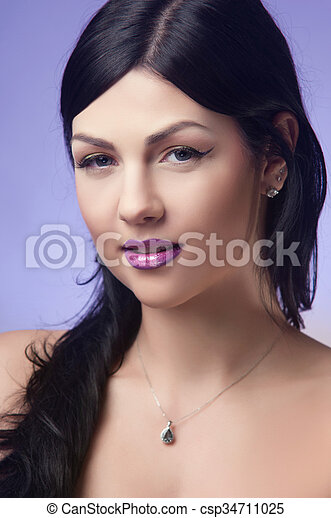 portrait of a beautiful young woman - csp34711025