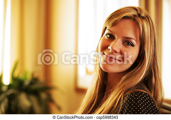 Portrait of a beautiful young woman - csp5998343