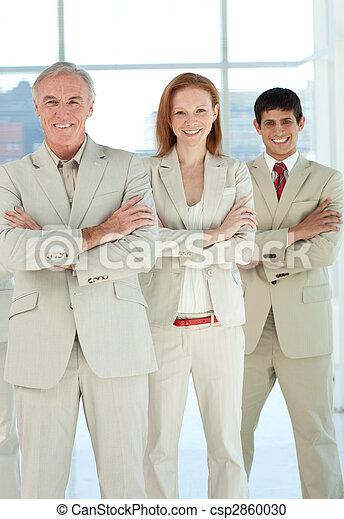 Portrait of a business team - csp2860030