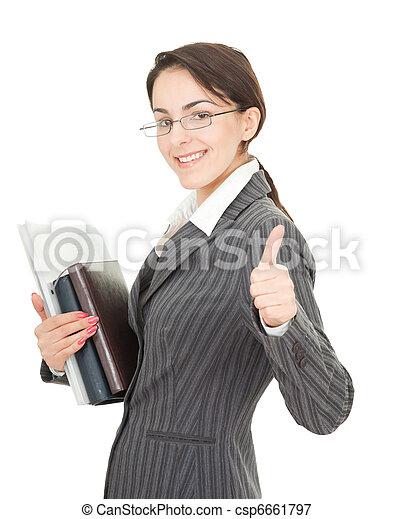 portrait of a business woman - csp6661797