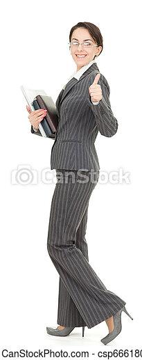 portrait of a business woman - csp6661801