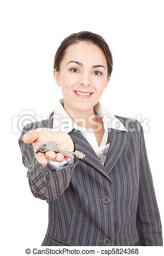 portrait of a business woman - csp5824368
