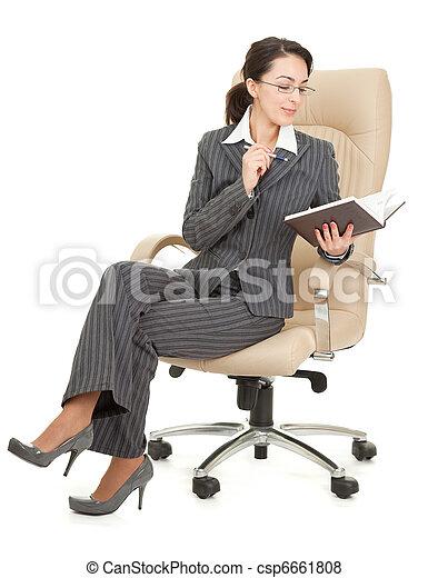 portrait of a business woman - csp6661808