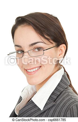 portrait of a business woman - csp6661785