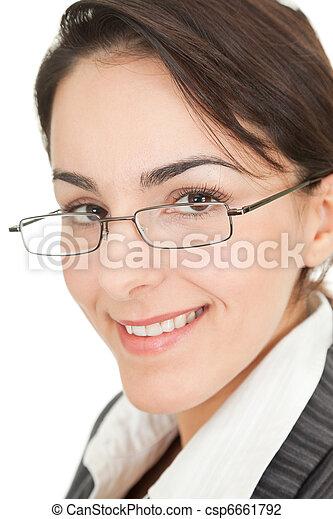 portrait of a business woman - csp6661792
