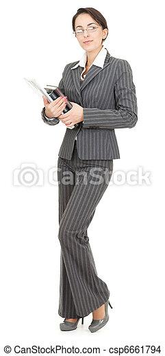 portrait of a business woman - csp6661794