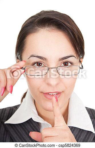 portrait of a business woman - csp5824369