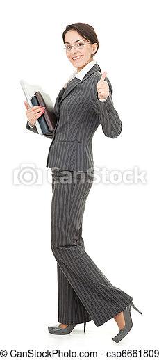 portrait of a business woman - csp6661809