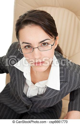 portrait of a business woman - csp6661770