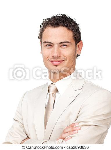 Portrait of a charismatic hispanic businessman  - csp2893636