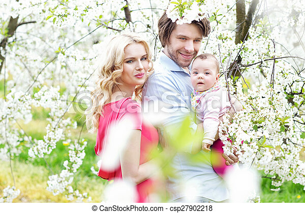 Portrait of a cheerful family - csp27902218
