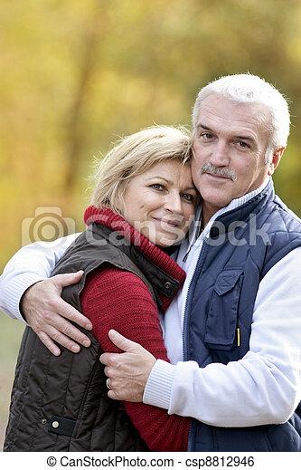 Portrait of a couple hugging - csp8812946