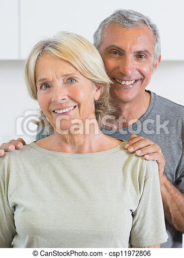 Portrait of a couple smiling - csp11972806