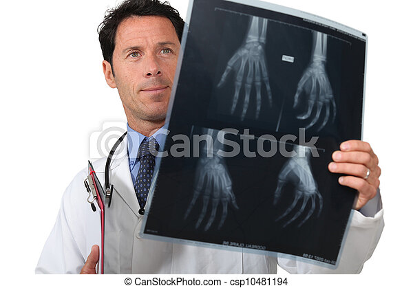 portrait of a doctor with radiography - csp10481194