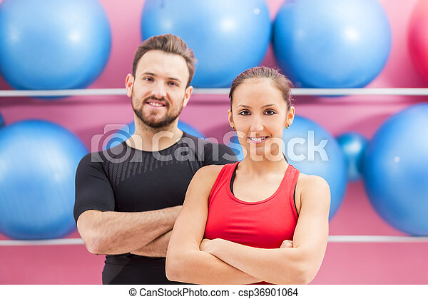 Portrait of a Fit Couple - csp36901064